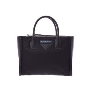 Prada 2WAY handbag black 1BA175 Ladies calf / nylon unused beautiful goods PRADA galler strap secondhand silver storage