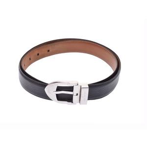 Louis Vuitton Saint Tulle Classic size 95 cm black SV metal fittings genuine leather belt B rank LOUIS VUITTON second hand silver storage