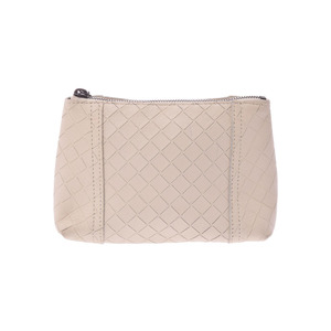 Bottega Veneta pouch Intretcio Ivory type men's ladies' ram A rank beautiful goods BOTTEGA VENETA secondhand silver storage