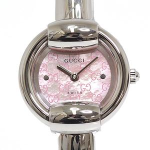 GUCCI Gucci Women's Watch Bangle YA014513 Pink Shell Dial Quartz