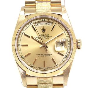 ROLEX Rolex Men's Watch Dayidateburg 18248 E (Made in 1991) Champagne dial OH