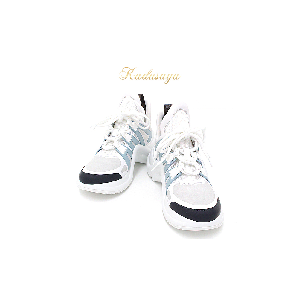 Louis Vuitton LOUIS VUITTON LV Arc Light Line Sneakers White Red Blue 37 (23.5cm) Women's 1A43IP Unused item
