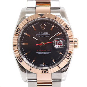 ROLEX Rolex Mens watches Datejust Turnograph 116261 Z (made in 2006) Black Dialed OH