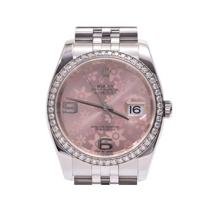 ROLEX Datejust Flower 116244 Serial V Diamond 18K White Gold Stainless Steel Automatic Mens Ladies  Watch