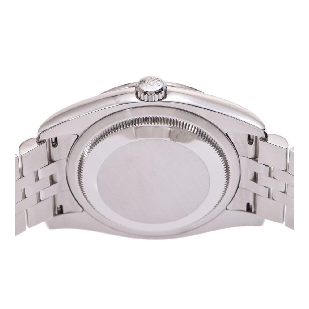 ロレックス デイトジャスト ピンクフラワー文字盤 116244 V番 メンズ SS/WG ベゼルダイヤ 自動巻 腕時計 Aランク 美品 ROLEX ギャラ 中古 銀蔵