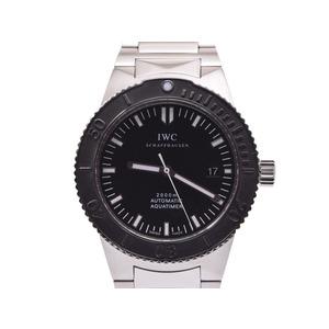 IWC GSTアクアタイマー 黒文字盤 IW353602 メンズ SS 自動巻 腕時計 Aランク 美品 ギャラ 中古 銀蔵