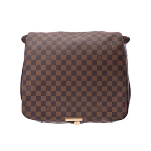 867446bf7e7a Louis Vuitton Damier Bastille brown N45258 Men s Women s Genuine leather shoulder  bag A rank beautiful goods