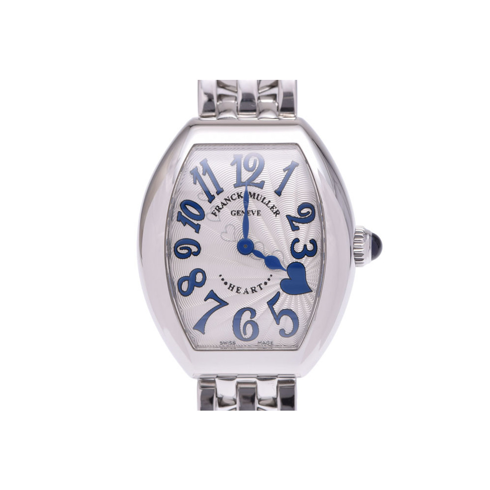 フランクミュラー ハートトゥハート シルバー系文字盤 5002SQZC レディース SS クオーツ 腕時計 Aランク 箱 ギャラ FRANCK MULLER 中古 銀蔵