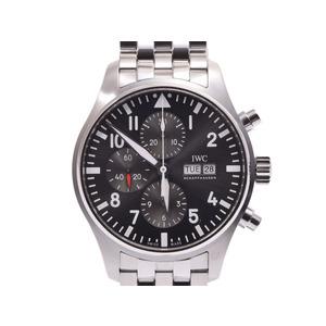 IWC パイロットウォッチ クロノ グレー文字盤 IW377719 メンズ SS 自動巻 腕時計 Aランク 美品 内箱 ギャラ 中古 銀蔵
