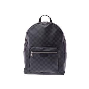 ff8a876171f2 Louis Vuitton Damier Graphite Josh Black N41473 Men s Genuine Leather  Backpack AB Rank LOUIS VUITTON Used