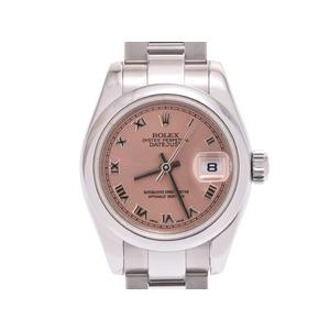 ロレックス デイトジャスト ピンクローマ文字盤 179160 M番 レディース SS 自動巻 腕時計 ROLEX ギャラ 中古 銀蔵