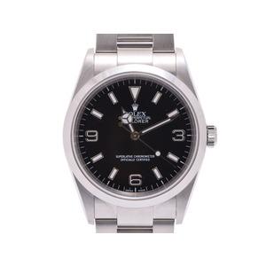 ロレックス エクスプローラー1 黒文字盤 114270 Y番 メンズ SS 自動巻 腕時計 Aランク 美品 ROLEX 箱 ギャラ 中古 銀蔵