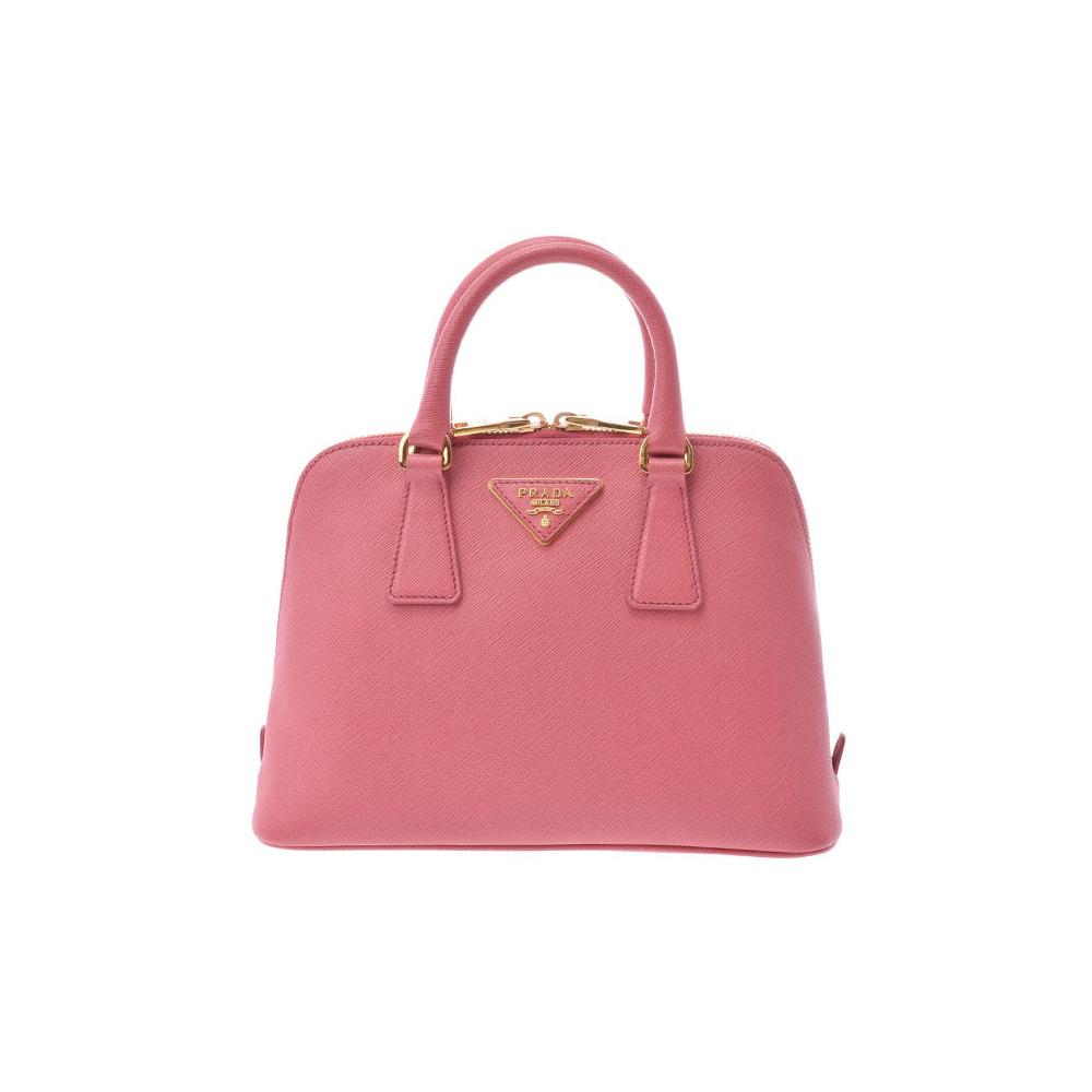 5b615f311a27 ... switzerland prada 2way handbag pink bl0838 ladies safiano a rank prada  galler strap attaching second hand