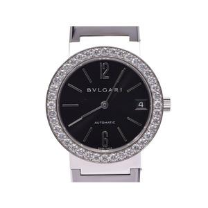 ブルガリ ブルガリブルガリ33 黒文字盤 ベゼルダイヤ BBW33GG メンズ レディース WG 自動巻 腕時計 ABランク BVLGARI ギャラ 中古 銀蔵