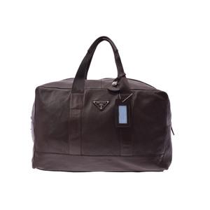 Prada Boston Bag Nappa Leather Bag Brown