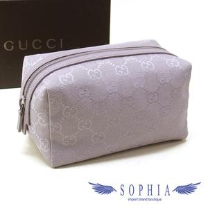 Gucci GG canvas cosmetic pouch purple lavender color 20181211