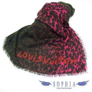 Louis Vuitton Leopard pattern cashmere mixed stall pink 20181211