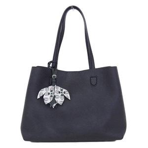 Genuine Christian Dior Leather Blossom Tote Bag Black
