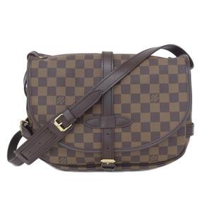 266ee634f04 Authentic Louis Vuitton Damier Saumur Shoulder Bag Ebene Model Number   N48081 Leather
