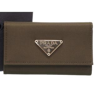 Prada Nylon Khaki Triangular Plate M222 6 Sequential Key Case 0350 PRADA Men's