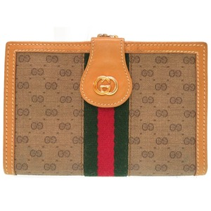 Gucci Sherry micro GG leather beige 035 150 bicolor wallet 0124 GUCCI