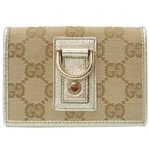 Gucci GG canvas abbey beige business card holder case 0227 GUCCI