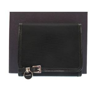 Prada Nylon Tri-Fold Wallet Black 0388 PRADA Men's