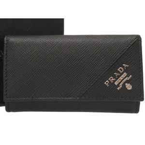 Prada Safiano Leather Black 6 Case 2 PG 222 Logo 0063 PRADA Men's