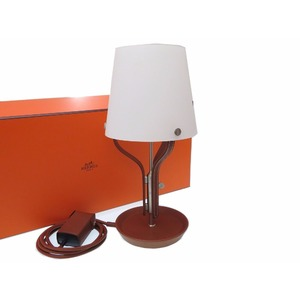 HERMES AN LUMIERE Table lamp interior leather forve 0163
