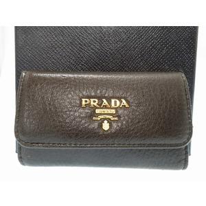 Prada 6 consecutive key case leather 1M0222 black 0221 PRADA men's