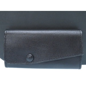 Vallexra Leather 6 Sequential Key Case Male Black 0378 Valextra Men's