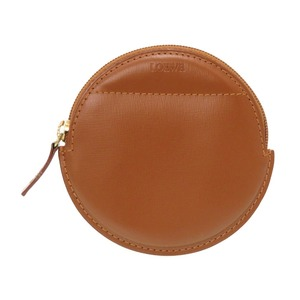 Loewe logo leather brown coin case purse wallet 0225 LOEWE