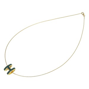 Hermes pop Ash H Blue Gold fittings necklace accessories 0155 HERMES ladies