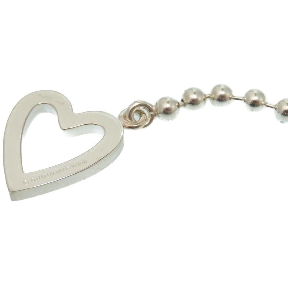 019bb24cc0f Gucci Heart motif Paul Necklace Bracelet 925 Silver Accessories 0226 ...
