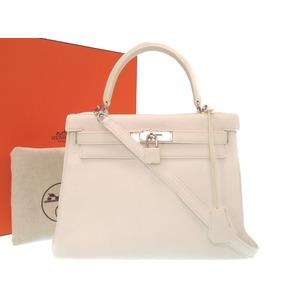 9b90bfb6e8ba Hermes Kelly 28 Inner sewing Toriyon Clemmance white silver fittings new □  K stamped handbag bag