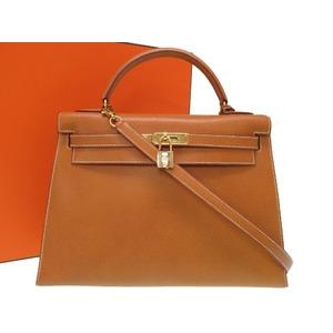 a9e36c11e070 Hermes Kelly 32 Outer sewing Pigskin gold hardware 〇 Z engraved handbag bag  0228 HERMES