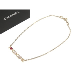 c895d4fb298 Chanel Eye Love Coco Mark Necklace Gold 17P Accessory 0162 CHANEL Women s