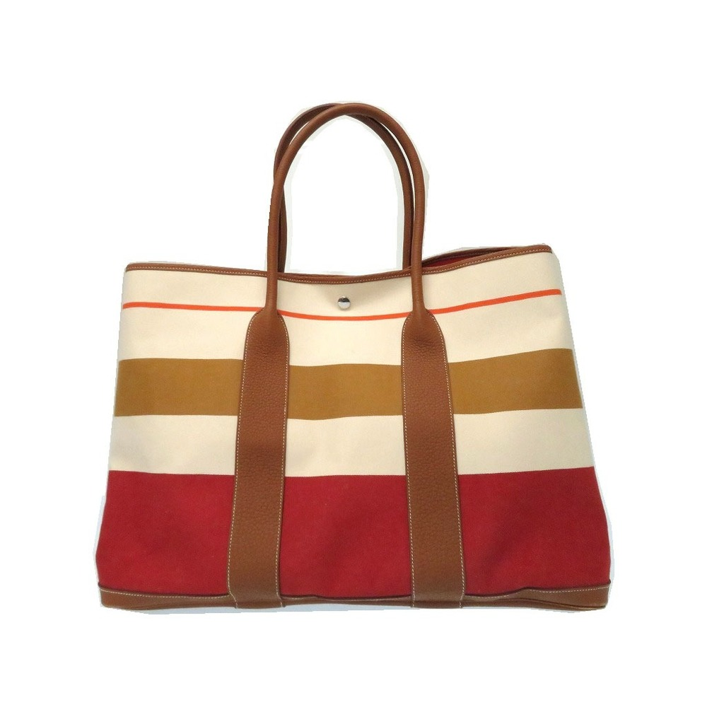 Hermes Garden Party GM TGM Tote Bag Toowle Ash Rouge Benellian 0115 HERMES  Women s 9480cc24bf
