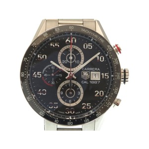 TAG Heuer Carrera Caliber 1887 CAR 2 A 10 - 5 Chronograph Automatic Men's Watch Black Letter 0077 HEUER