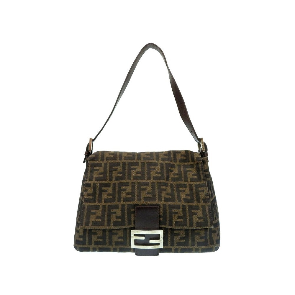 Fendi Zucca Pattern Mumma Bucket Handbag Vintage Brown 0080 FENDI Women's