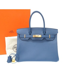 606cb5ac3964 Hermes Birkin 30 Vaud Epson Blue Agat Gold Hardware A Stamp (made in 2017)