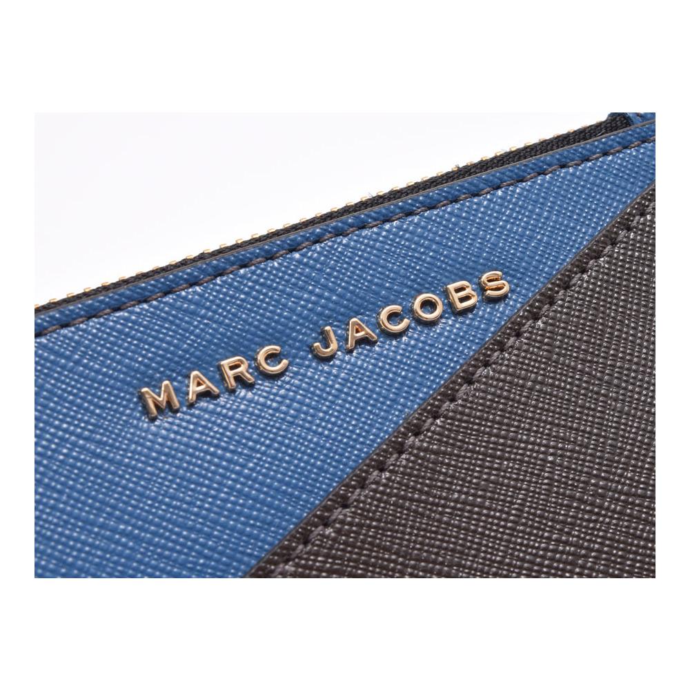 マーク・ジェイコブス(Marc Jacobs) マークジェイコブス トップジップ マルチウォレット ヴィンテージブルー/グレー系 メタリックサフィアーノ コインケース アウトレット 未使用 MARC JACOBS 中古 銀蔵