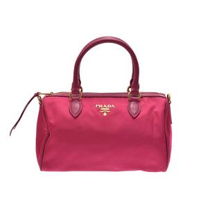 Prada 2WAY mini Boston pink 1BB797 ladies nylon leather
