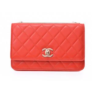Chanel Matrasse chain wallet orange G fittings ladies lambskin purse new same beauty goods CHANEL box galleries second hand silver kiln