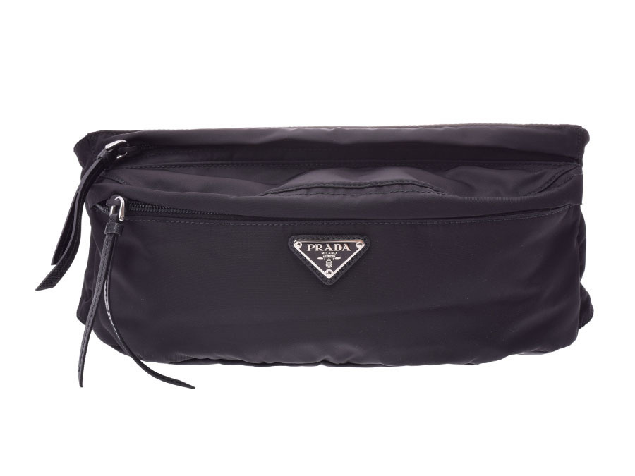 cc55756be73d Authentic Prada Men s Nylon Fanny Pack Black 800000072798000