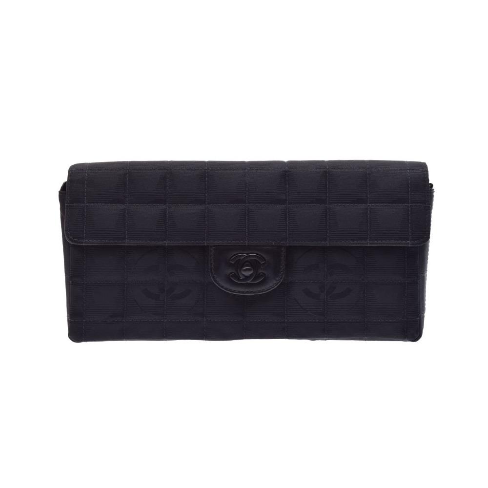515e9942215e シャネル(Chanel) シャネル ニュートラベルライン チェーンショルダーバッグ 黒 レディース ナイロン Bランク