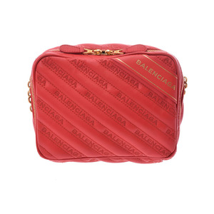 Balenciaga blanket reporter XS rouge tango women's calf chain shoulder bag unused beautiful goods BALENCIAGA second hand silver storage