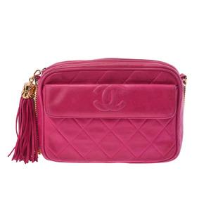 シャネル(Chanel) シャネル マトラッセ チェーンショルダーバッグ ピンク G金具 レディース ラムスキン フリンジ Bランク CHANEL ギャラ 中古 銀蔵