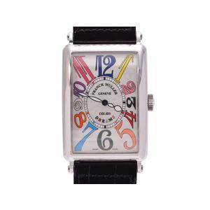 フランクミュラー ロングアイランド カラードリーム 1200SC メンズ SS/革 自動巻 腕時計 Aランク 美品 FRANCK MULLER 箱 ギャラ 中古 銀蔵