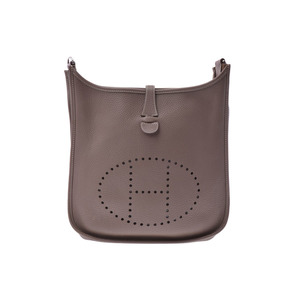 Hermes Evelyn PM etop SV metal fittings □ M engraved ladies trayon cle mens shoulder bag AB rank HERMES second hand silver storage